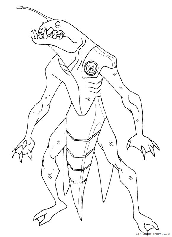 ben 10 coloring pages ultimate ripjaws Coloring4free