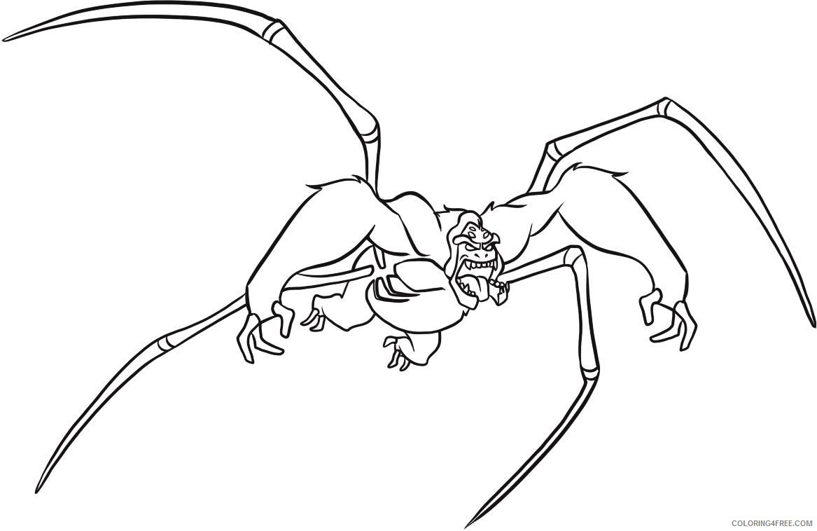 ben 10 coloring pages ultimate spidermonkey Coloring4free