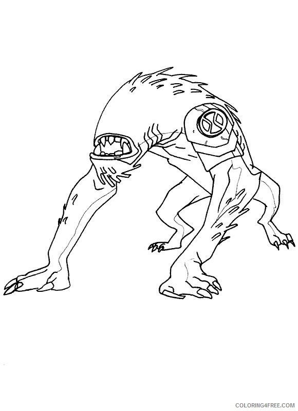 ben 10 coloring pages wild mutt Coloring4free