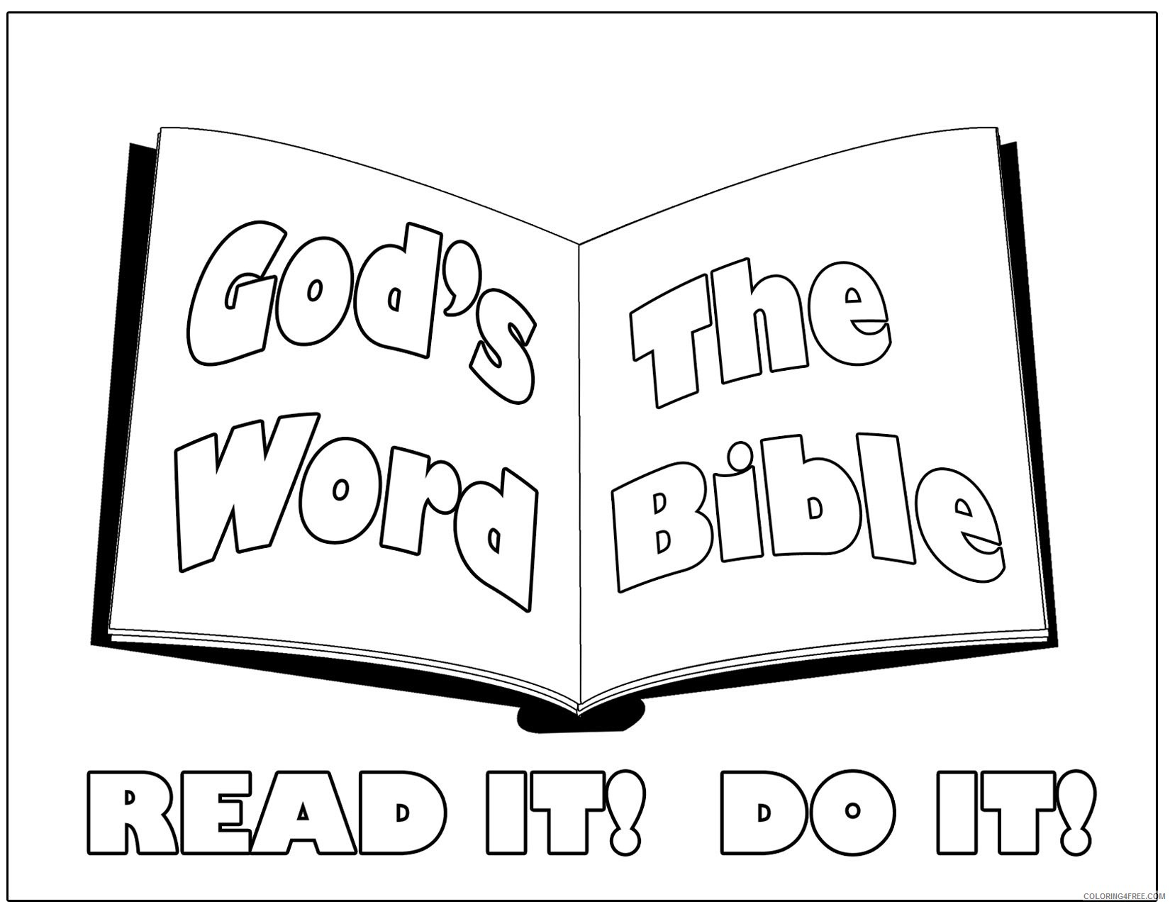 bible coloring pages for preschooler Coloring4free