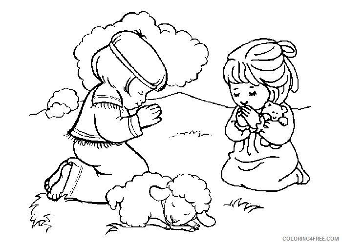 bible coloring pages free to print Coloring4free