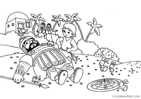 bible david and goliath coloring pages Coloring4free