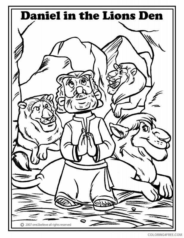 bible story coloring pages daniel Coloring4free