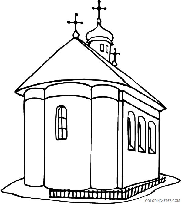 big church coloring pages printable Coloring4free