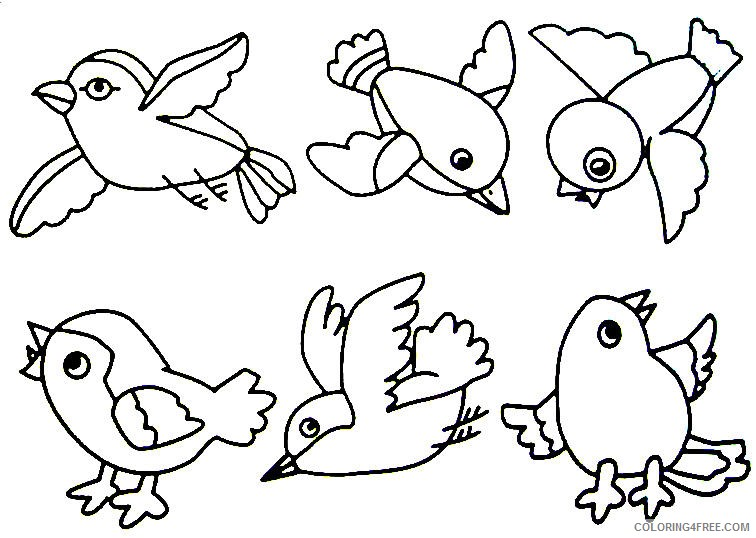 bird coloring pages for kids Coloring4free