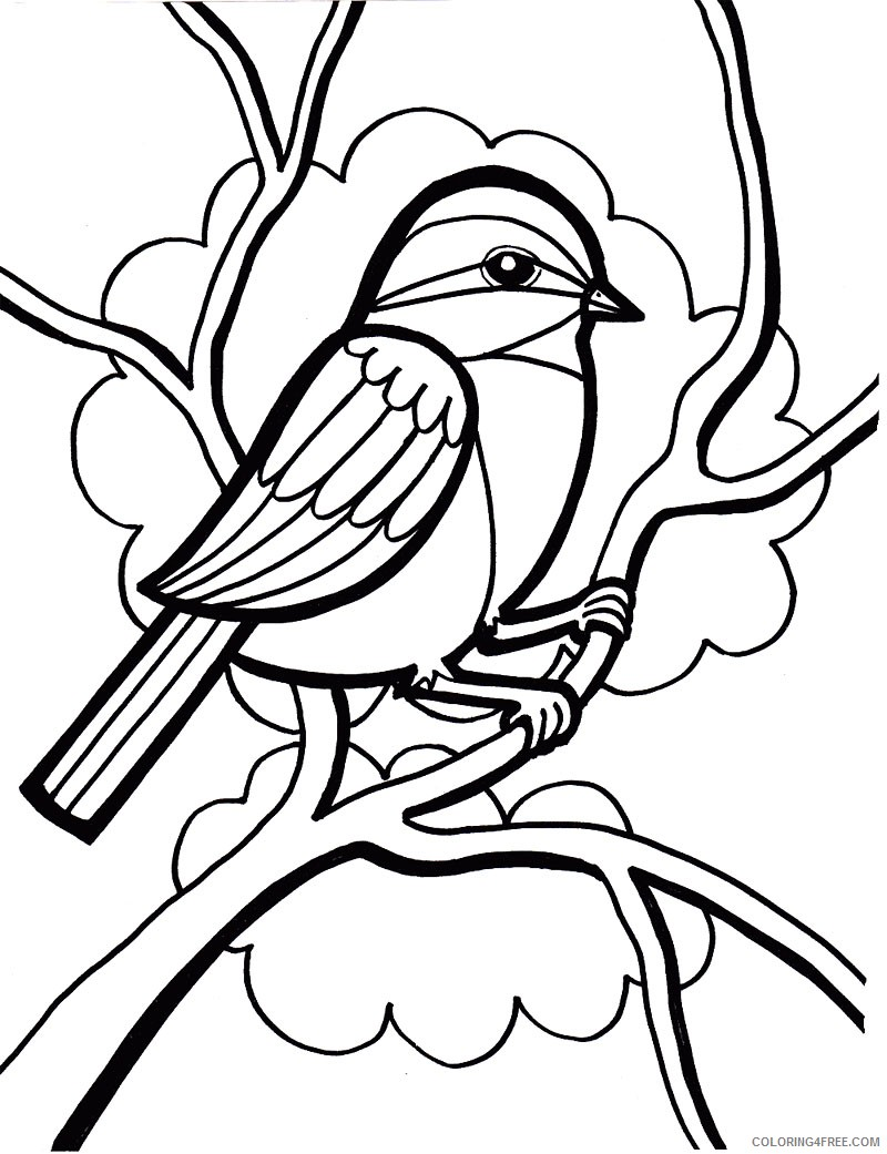 bird coloring pages free to print Coloring4free