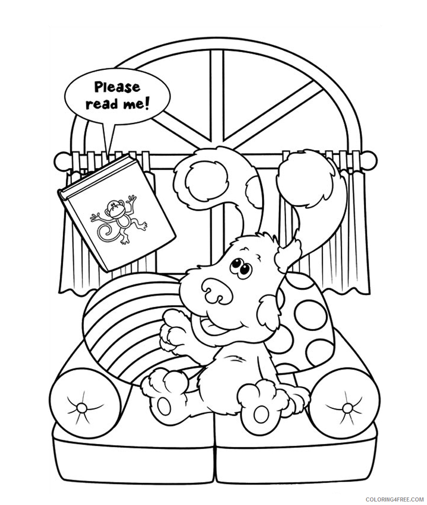 blues clues coloring pages free to print Coloring4free