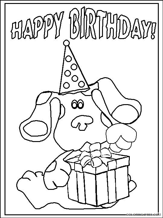 blues clues coloring pages happy birthday Coloring4free