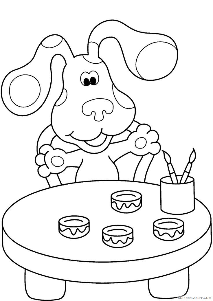 blues clues coloring pages painting Coloring4free
