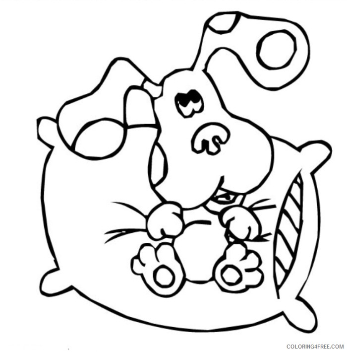 blues clues coloring pages sitting on pillow Coloring4free