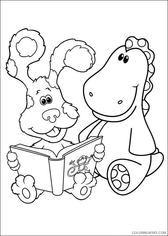 blues clues coloring pages storytelling Coloring4free