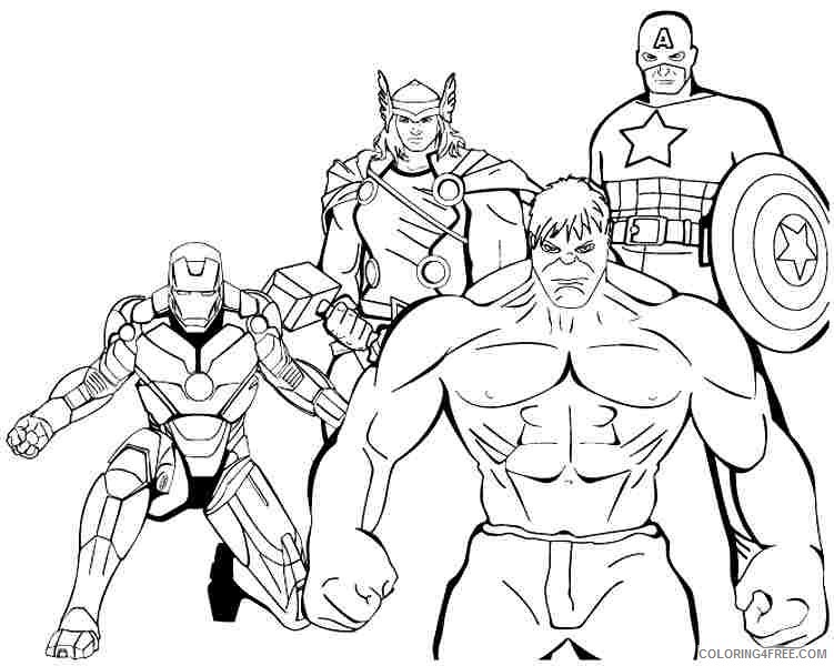 boy coloring pages avengers Coloring4free