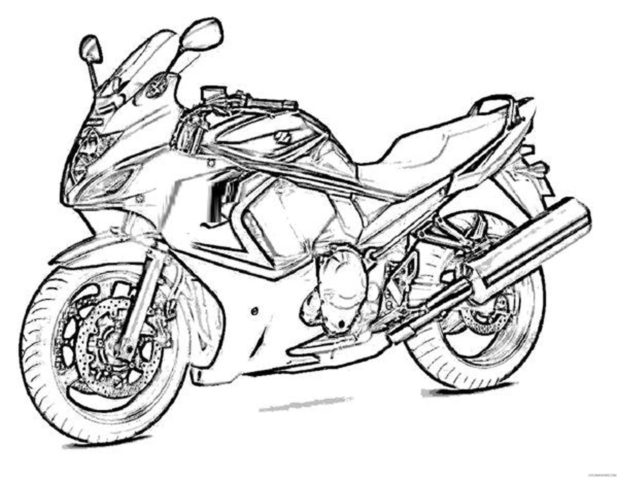 boy coloring pages motorcycle Coloring4free