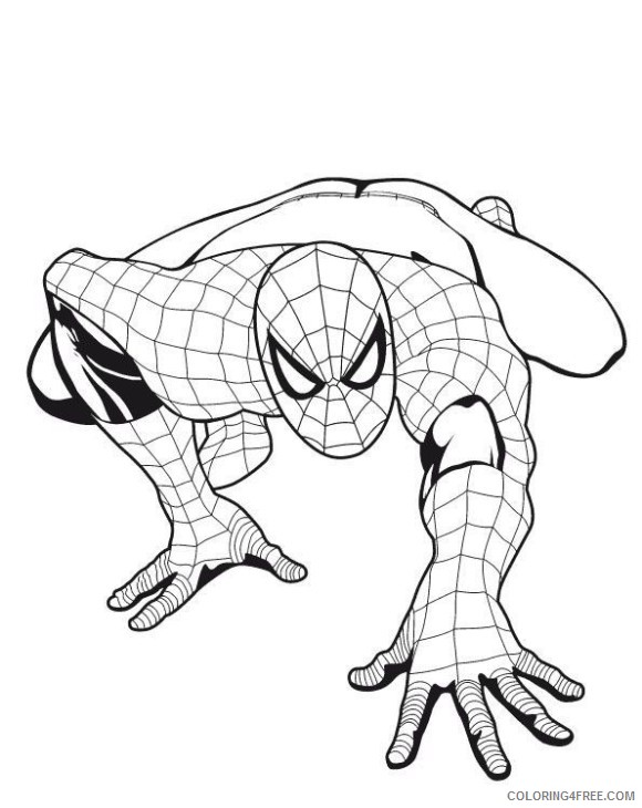 boy coloring pages of spiderman Coloring4free