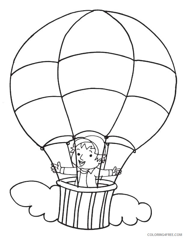 boy in hot air balloon coloring pages Coloring4free