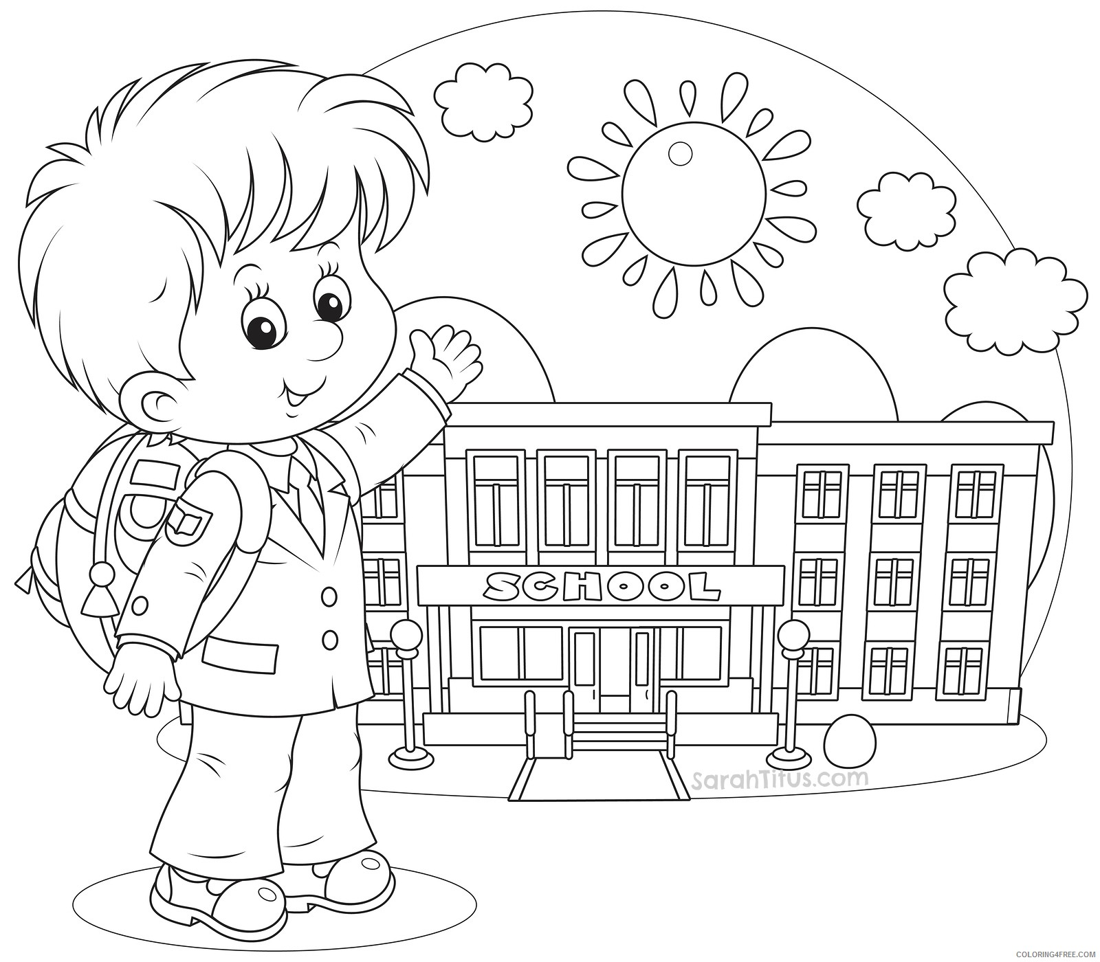 boys back to school coloring pages Coloring4free