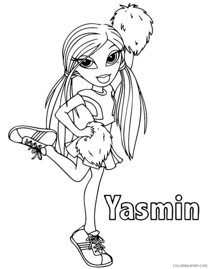 bratz coloring pages yasmin cheerleader Coloring4free