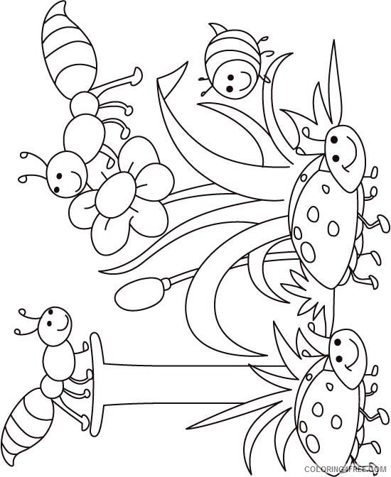 bug coloring pages for kids Coloring4free