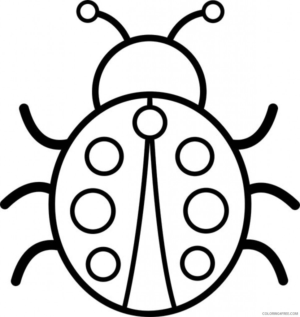 bug coloring pages for preschool Coloring4free