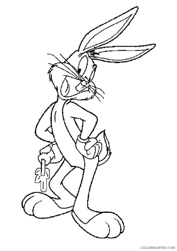 bugs bunny coloring pages with carrot Coloring4free