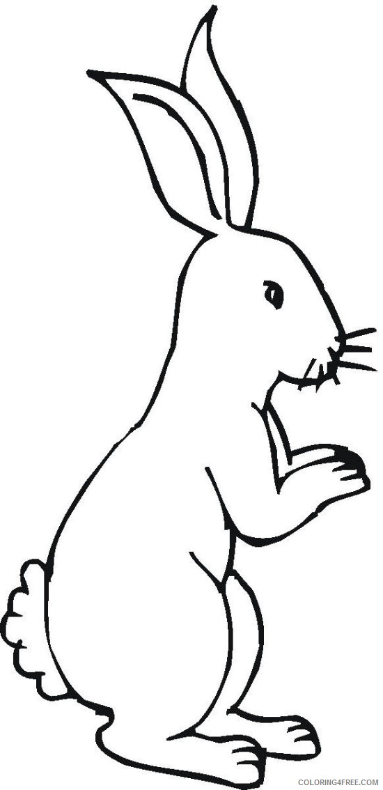 bunny coloring pages for kids Coloring4free