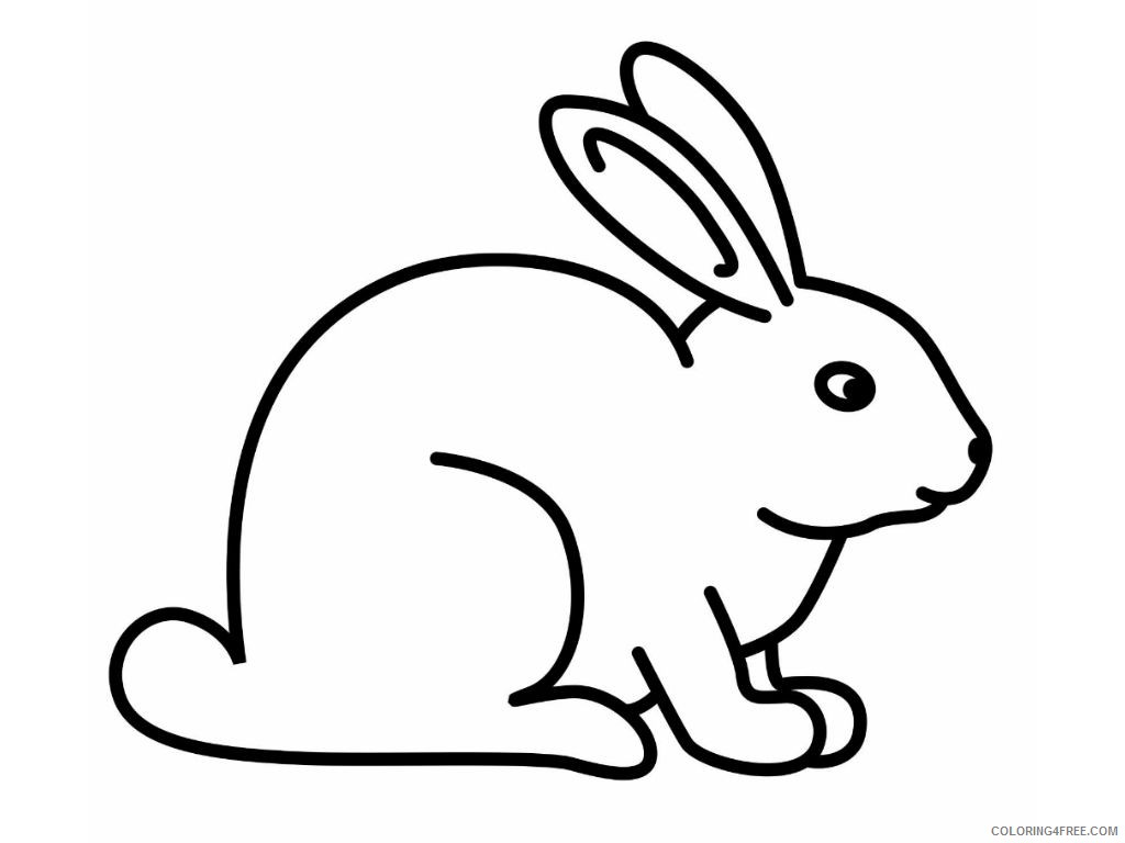 bunny coloring pages for toddlers Coloring4free
