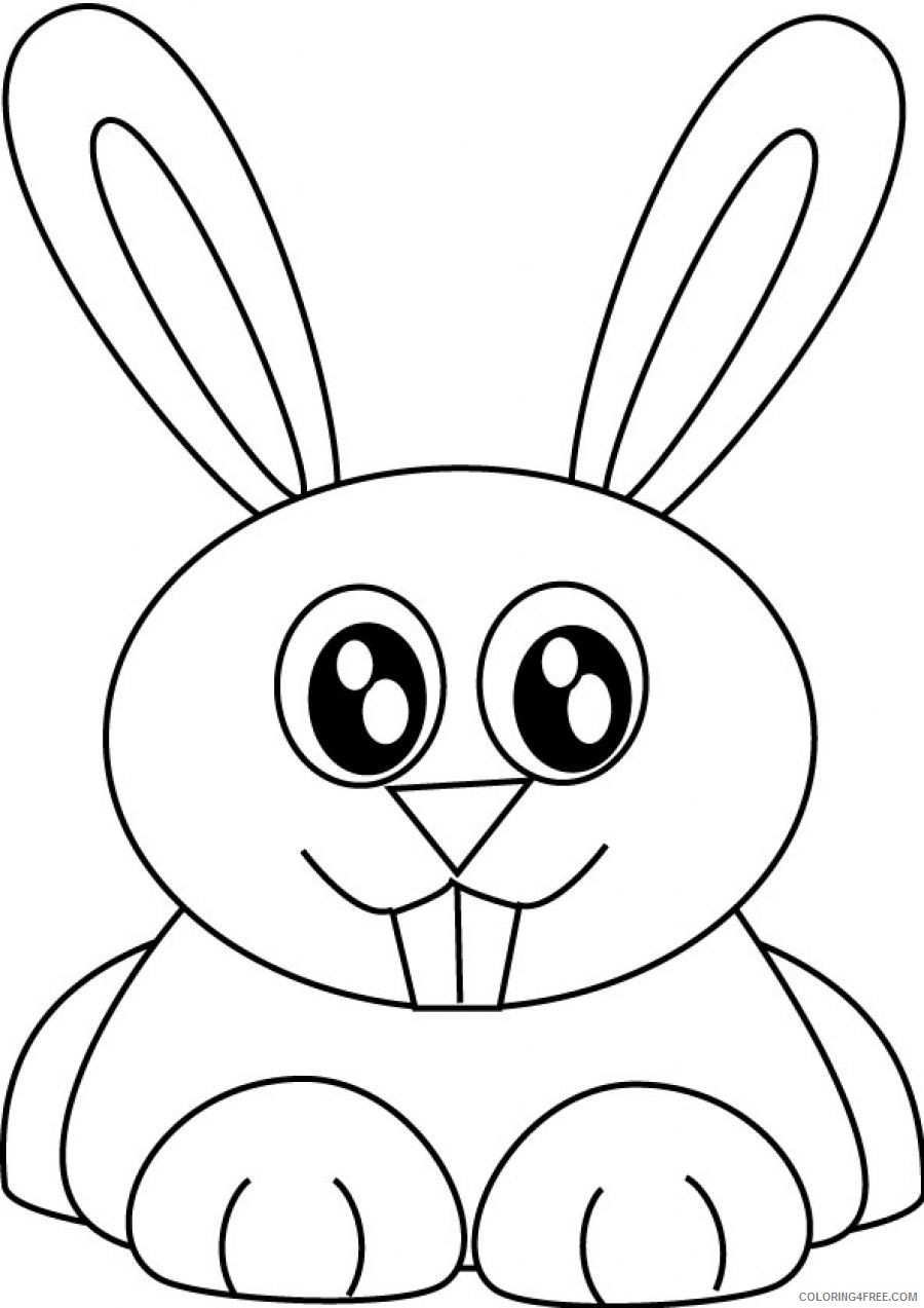 bunny coloring pages to print Coloring4free