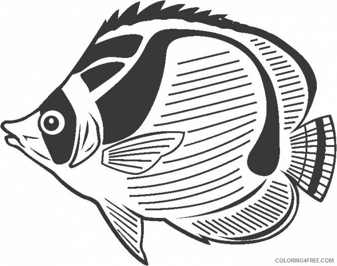 butterfly fish coloring pages Coloring4free