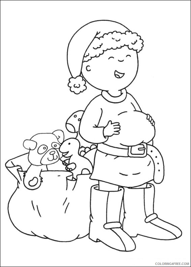 caillou coloring pages christmas Coloring4free
