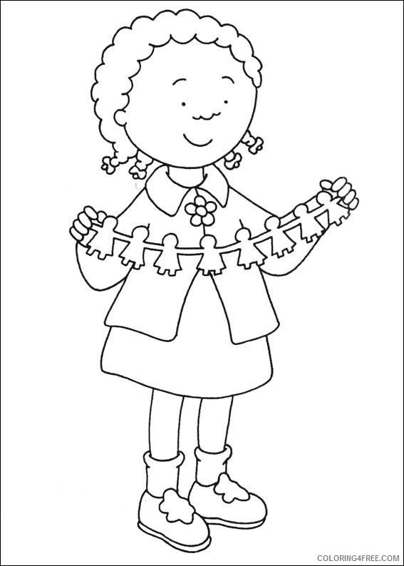 caillou coloring pages clementine Coloring4free