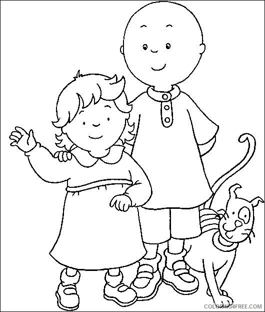 caillou coloring pages rosie caillou gilbert Coloring4free