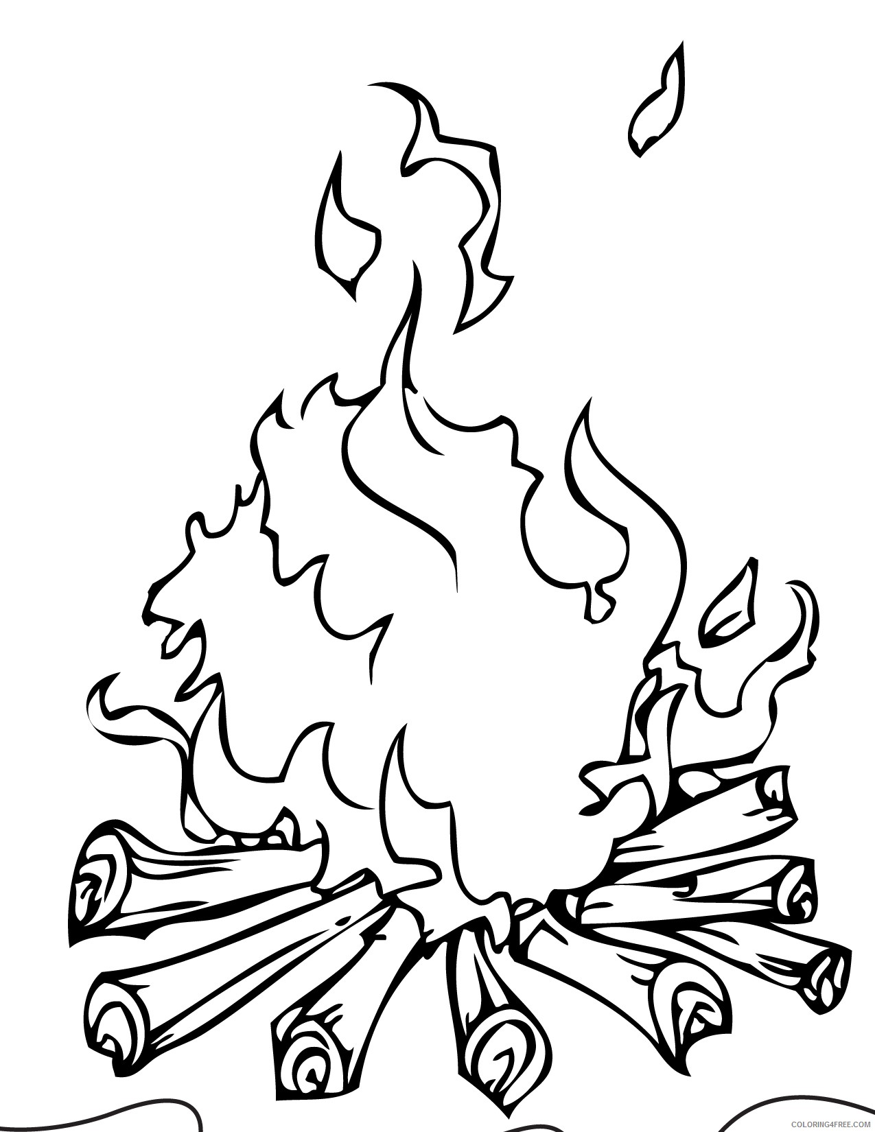 camping coloring pages campfire Coloring4free