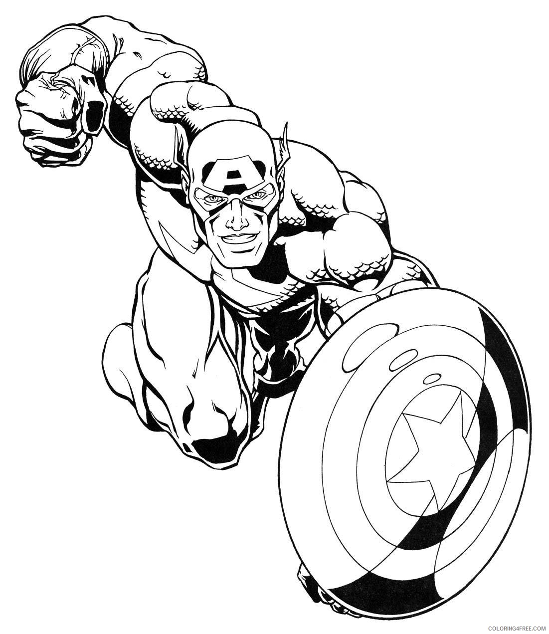 captain america superhero coloring pages Coloring4free