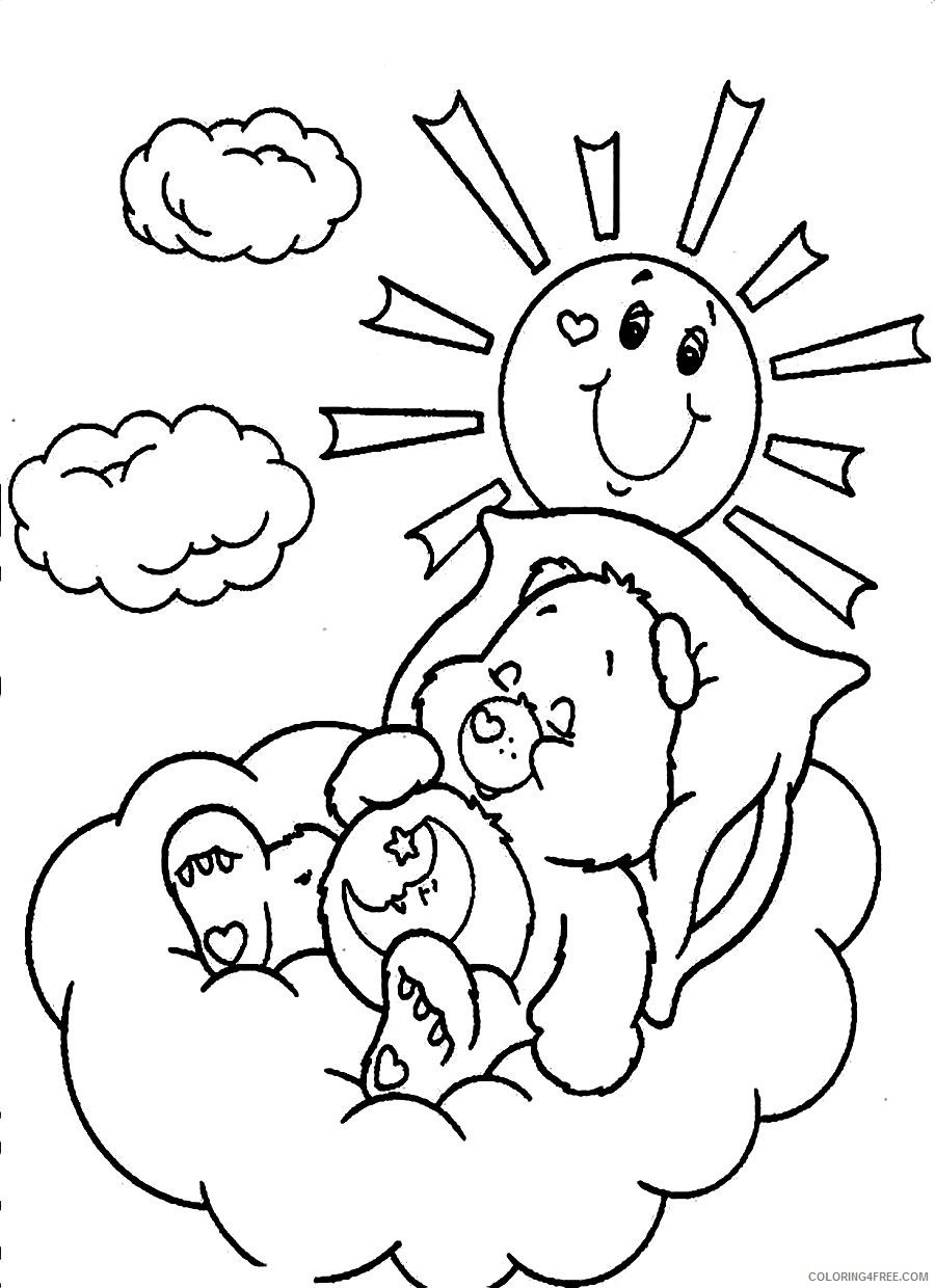 care bears coloring pages bedtime bear Coloring4free