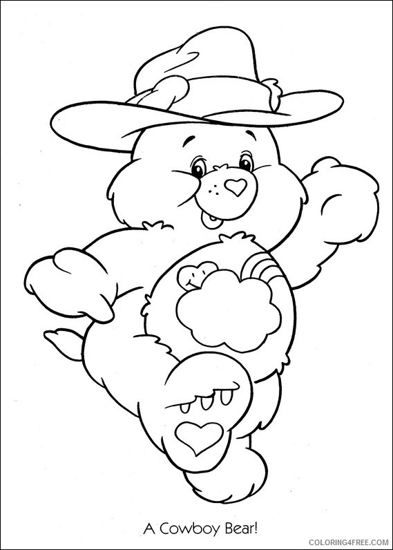 care bears coloring pages cowboy bear Coloring4free
