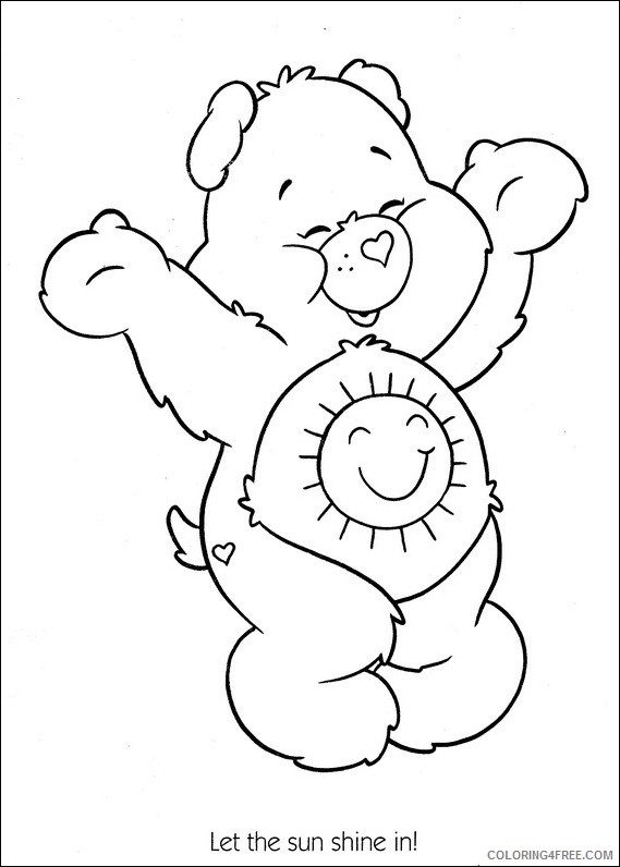 care bears coloring pages funshine bear Coloring4free