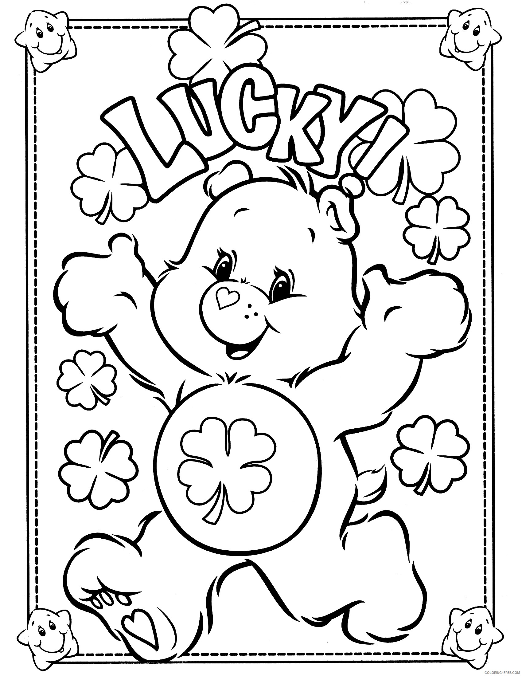 care bears coloring pages good luck Coloring4free