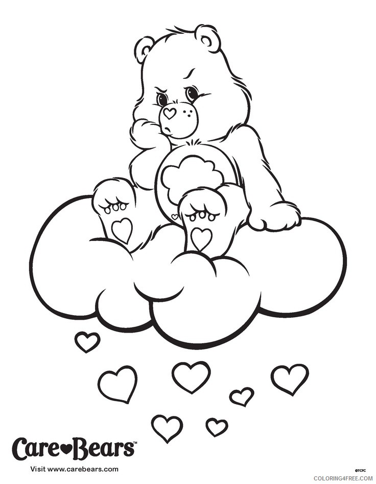 care bears coloring pages grumpy bear Coloring4free
