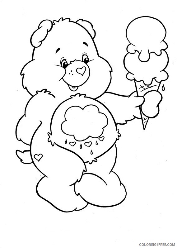 care bears coloring pages holding ice cream Coloring4free