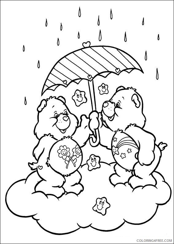 care bears coloring pages in rain Coloring4free