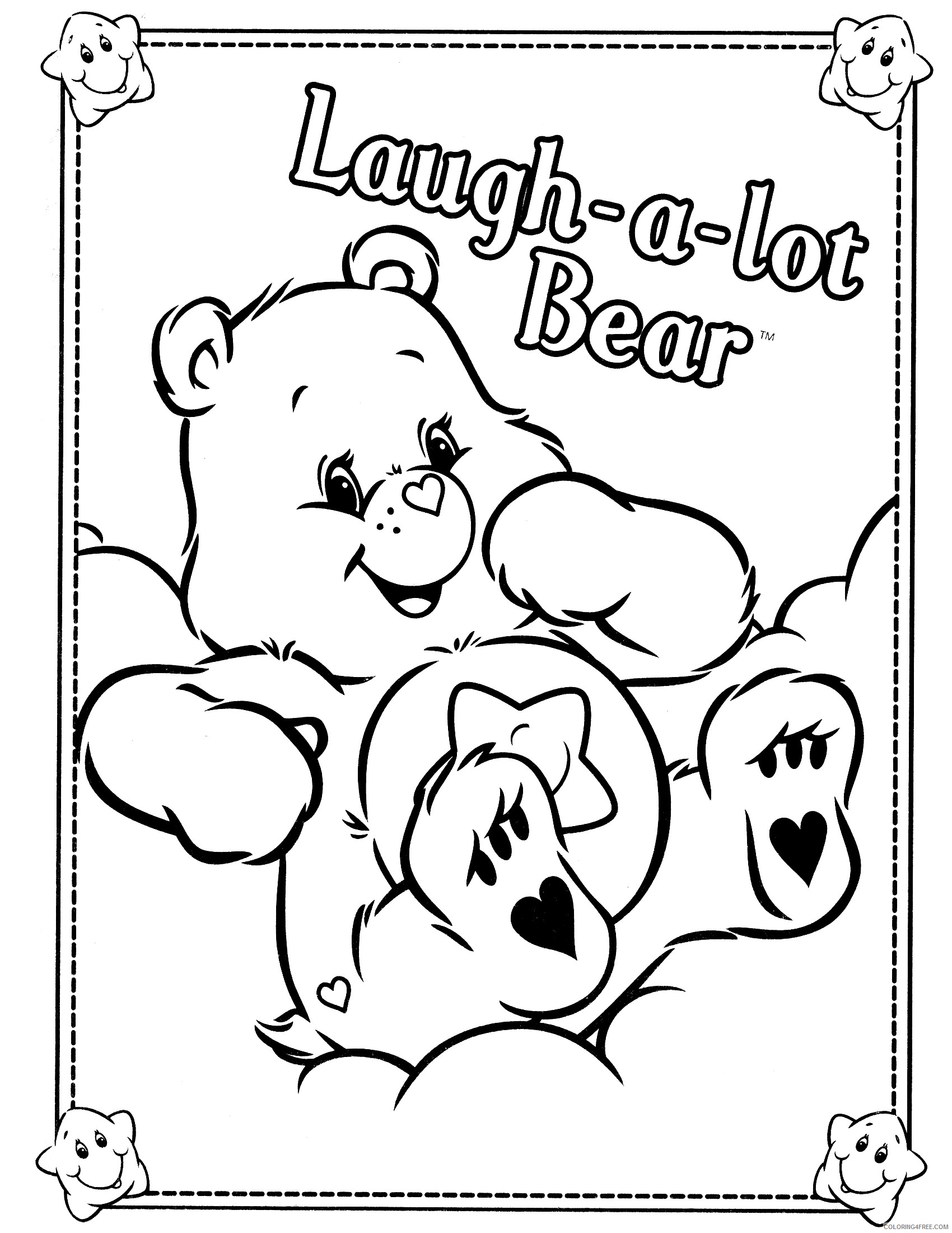 care bears coloring pages laugh a lot bear Coloring4free