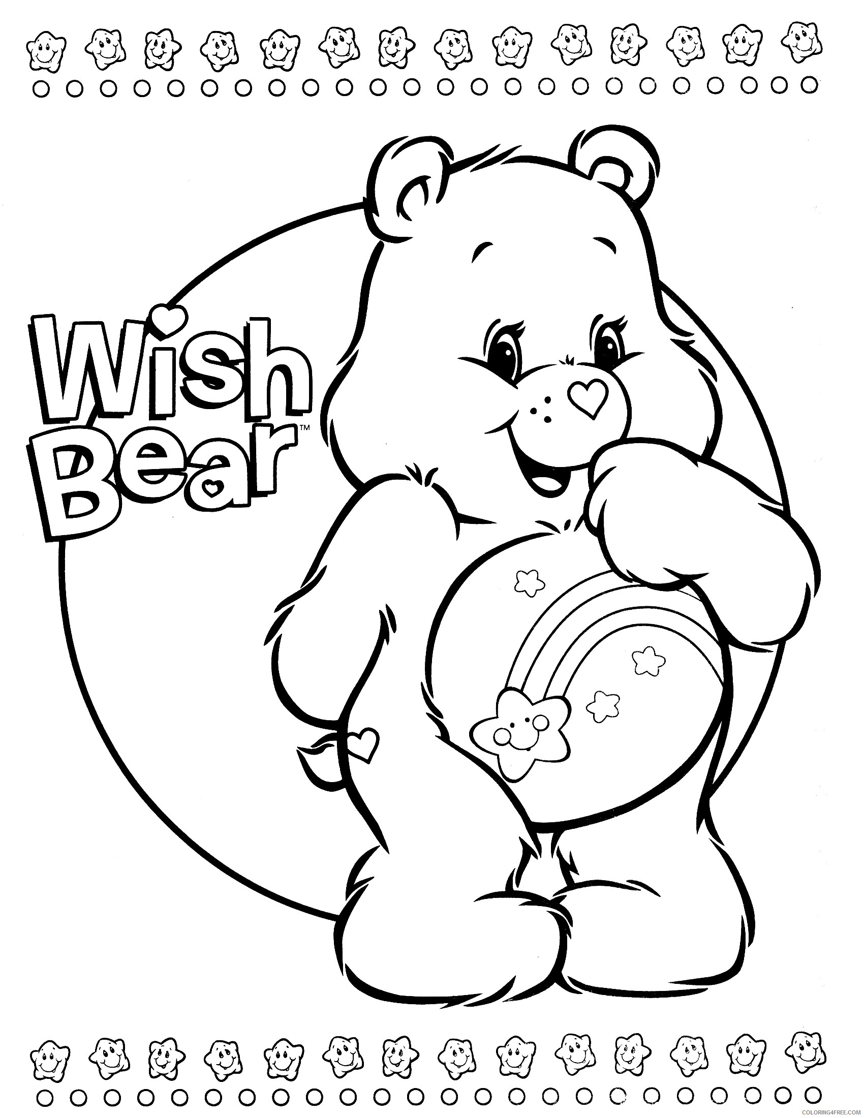 care bears coloring pages wish Coloring4free
