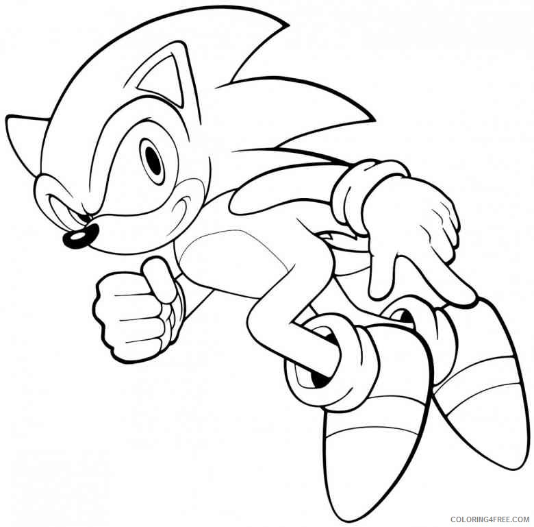 cartoon coloring pages sonic the hedgehog Coloring4free