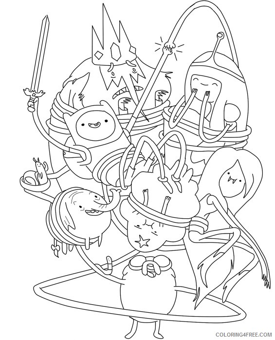 cartoon network adventure time coloring pages Coloring4free