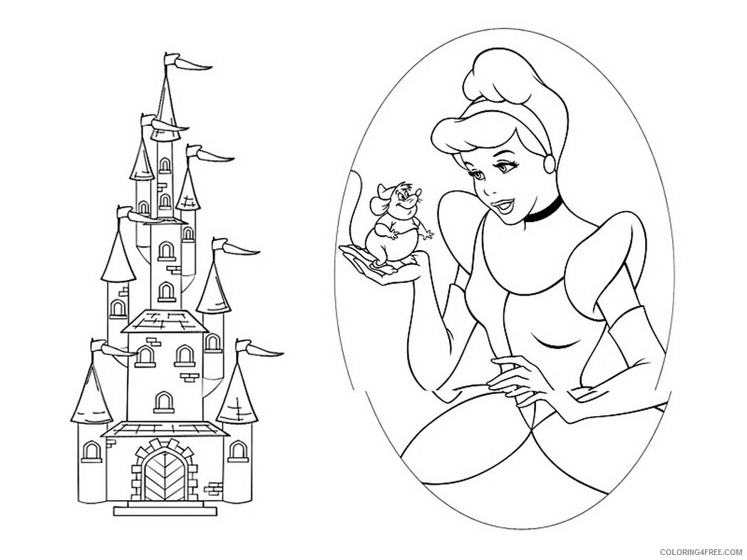 castle coloring pages cinderella Coloring4free