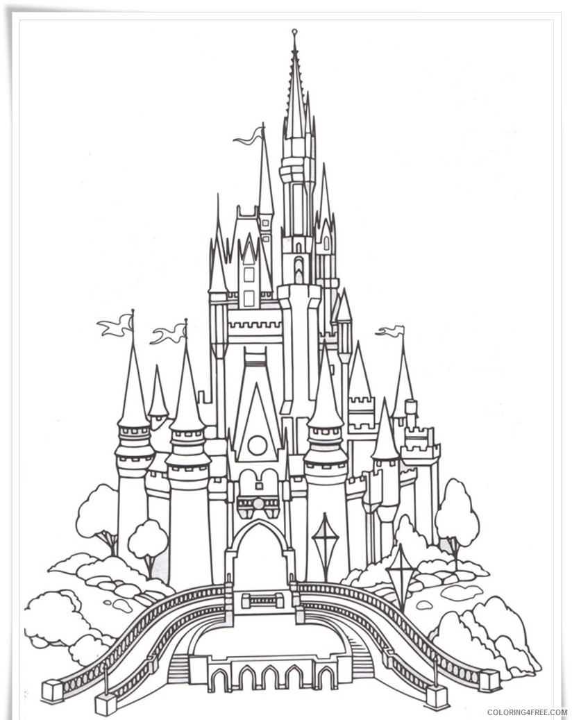 castle coloring pages disney Coloring4free