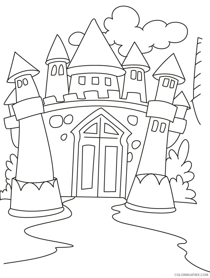castle coloring pages printable for kids Coloring4free