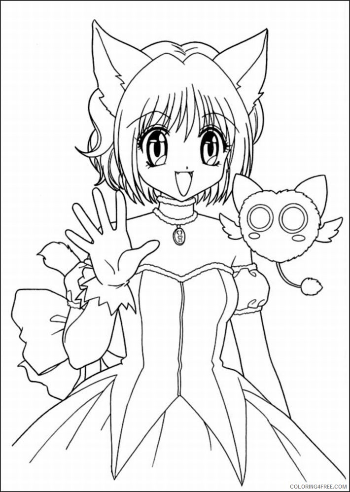 cat girl anime coloring pages Coloring4free