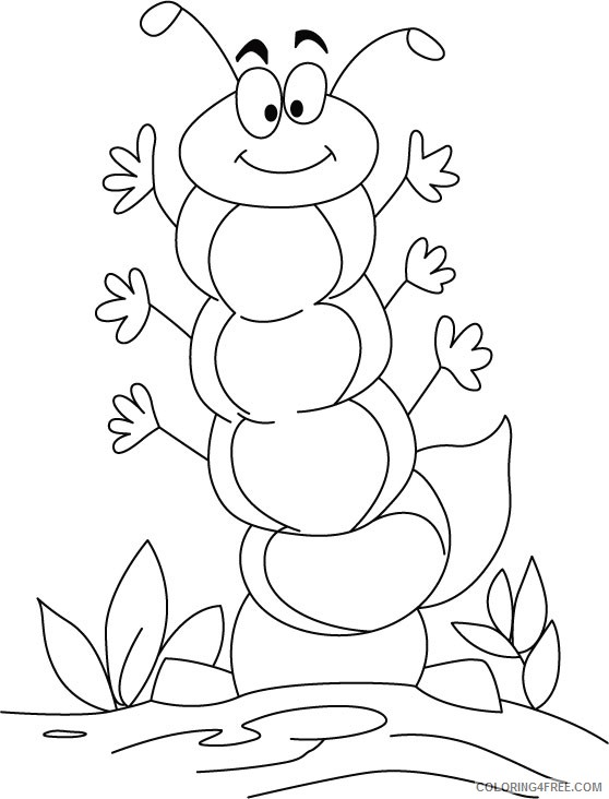 caterpillar coloring pages cartoon Coloring4free