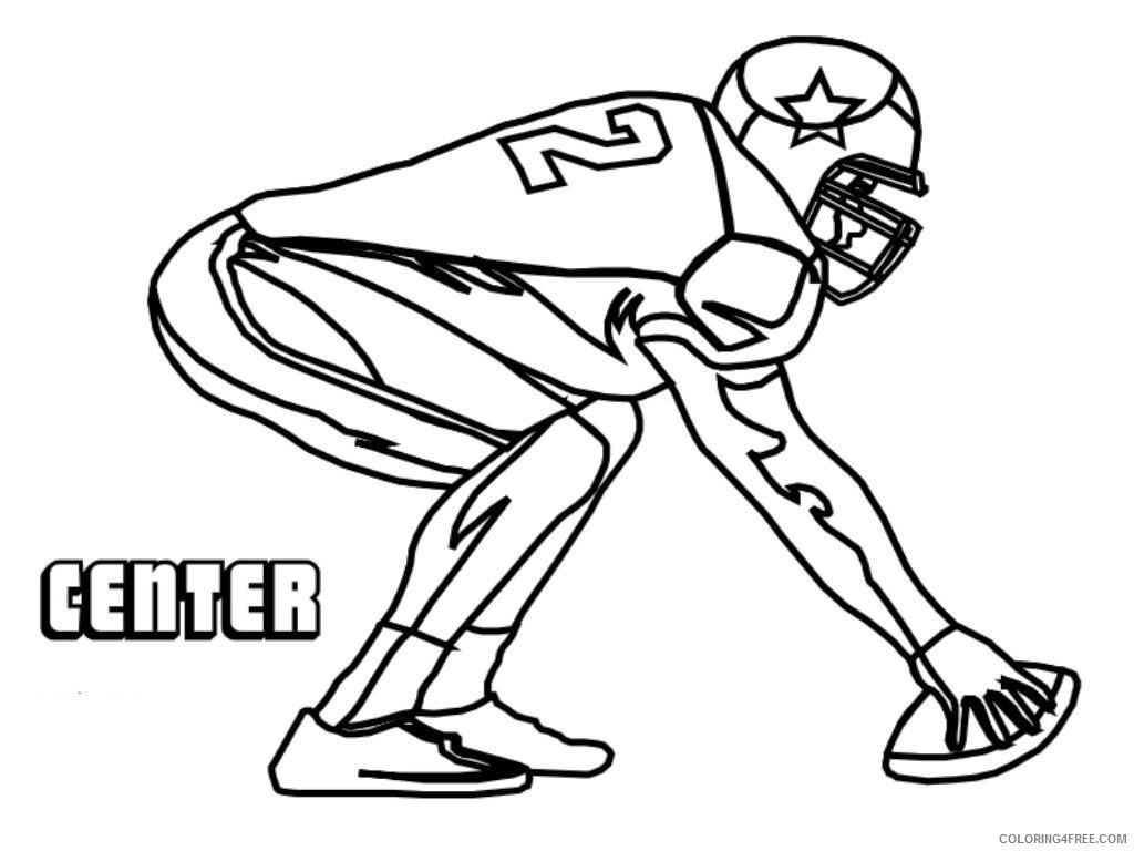 center american football coloring pages Coloring4free